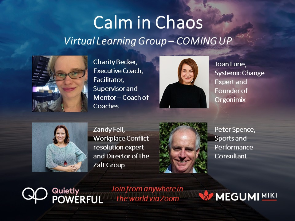 Calm in chaos virtual learning group session coming up Aug Sep 2020